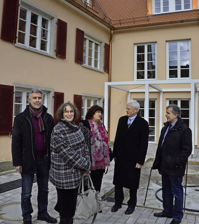 Die Landtagsabgeordnete Bärbl Mielich ...des Merdinger Katharina-Mathis-Stifts.  | Foto: manfred frietsch
