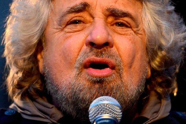 Komiker Beppe Grillo mischt den Wahlkampf auf