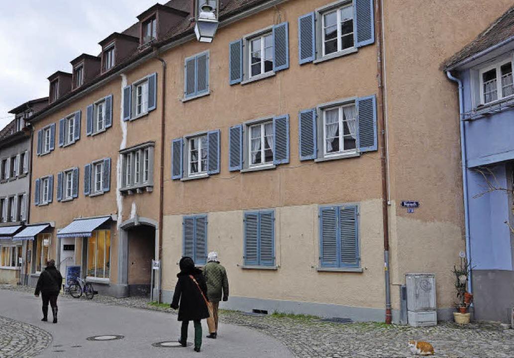 Dieses Haus in der Staufener Kirchstra...trum der Hebungen soll saniert werden.  | Foto: R. Ruther