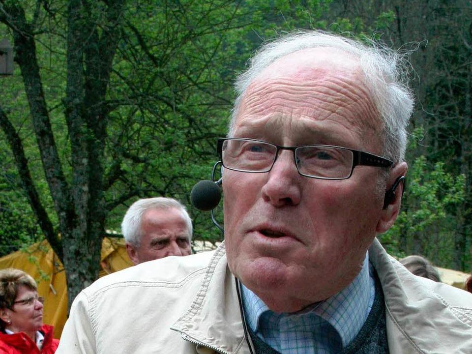 Architekt und Heimatforscher Theo Gremmelspacher.    Foto: Dieter Maurer