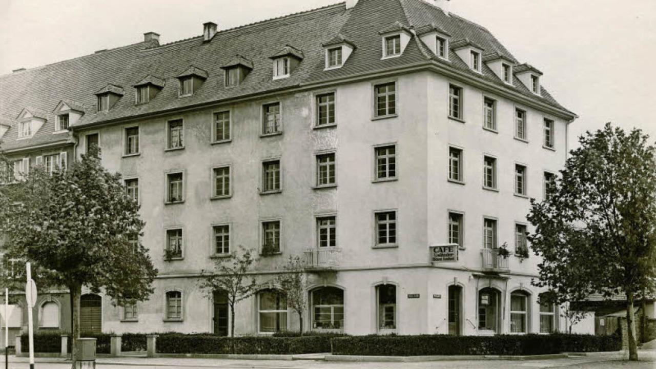 Das Usländer-Haus an der Robert-Koch-Straße  auf einem Foto von 1950.   | Foto: Archiv Manfred Gallo