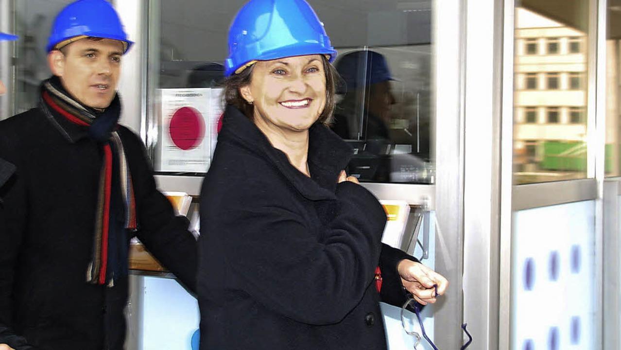 Stippvisite: Bürgermeister Jörg Lutz u...ittwoch zu Besuch bei der Firma BASF.   | Foto: Ralf Staub