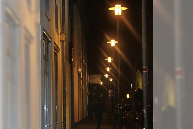 Feldversuch mit Straßenlampen
