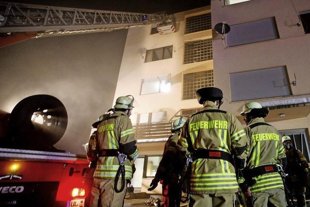 Asylbewerberheim in Flammen