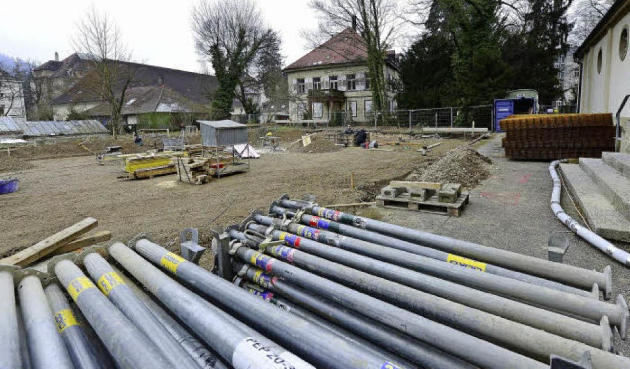 Die Bauarbeiten für den neuen Kinderga...storen je zwei Vorschläge einbringen.   | Foto: ingo schneider