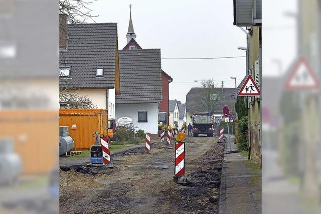 Hauptstraße wird erneuert