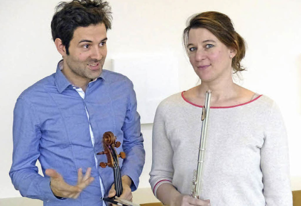 Micha Afkham und Jelka Weber  | Foto: rudiger