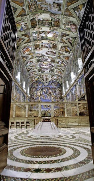 Der Ort, an dem der Papst gewählt wird: die Sixtinische Kapelle   | Foto: AFP