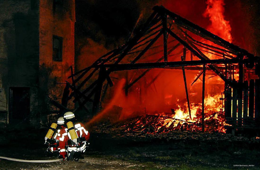 45-mal musste die Breisacher Wehr 2012...gt einen Brand in der alten Ziegelei.   | Foto: Archivfoto: privat