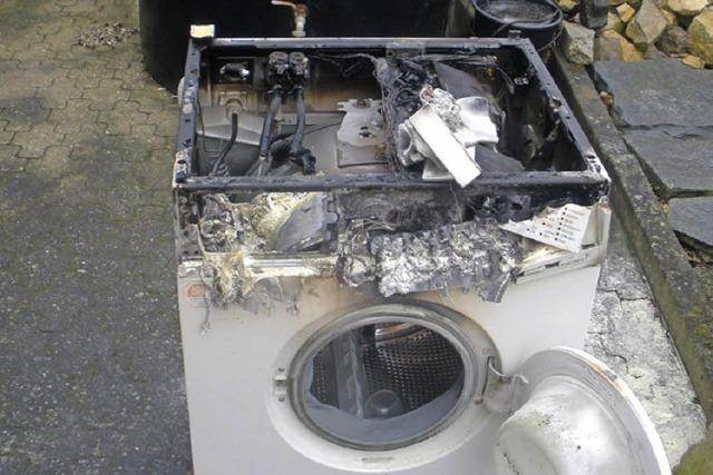 Waschmaschine ausgebrannt