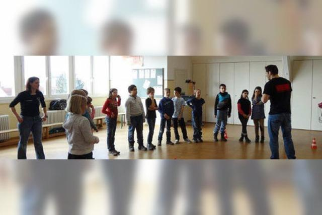 Schüler der Leopoldschule lernen