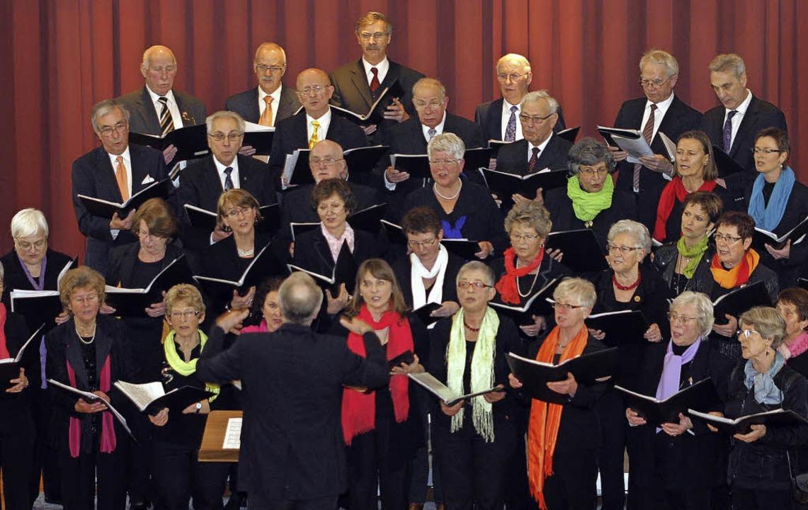 Die Chorgemeinschaft zeigt sich im Alten Scheffel von der besten Seite.  | Foto: Heidi Fössel
