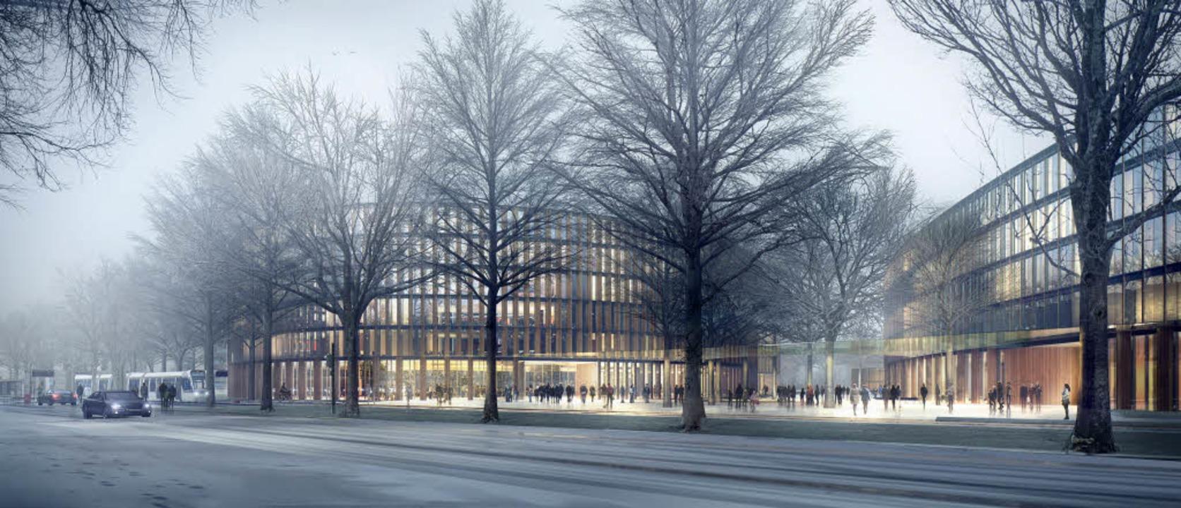 So soll das neue Rathaus in Freiburg aussehen.  | Foto: Privat