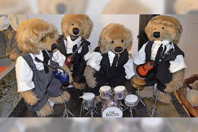 Im Museumscafé begrüßen die Beatles