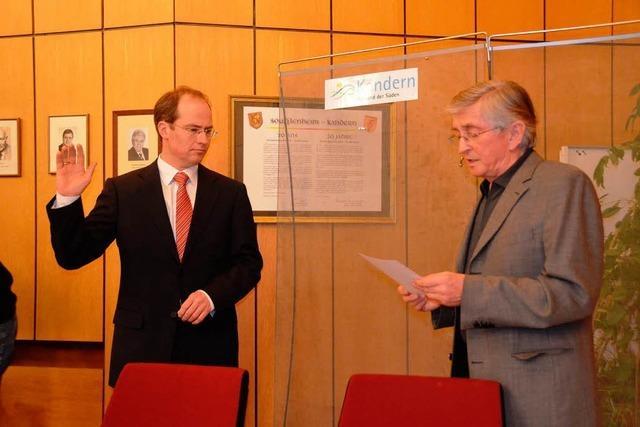 Christian Renkert als Stadtchef verpflichtet