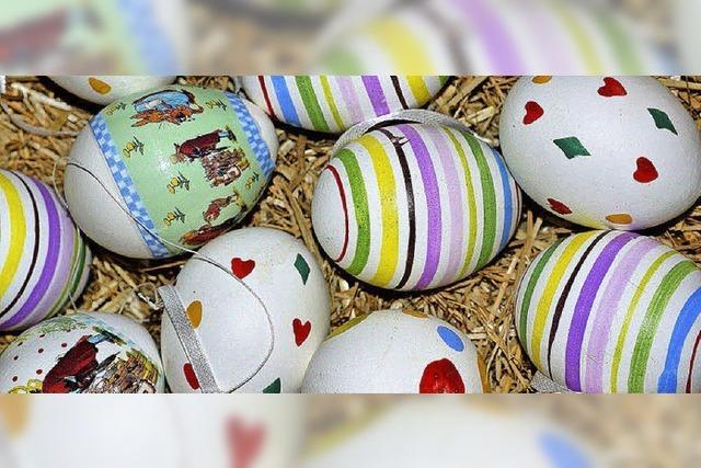Bunte Eier fast aus der ganzen Welt
