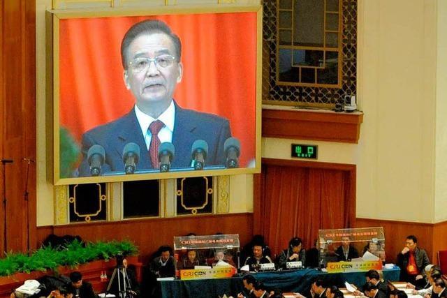 Volkskongress: Kühler Abschied für Wen