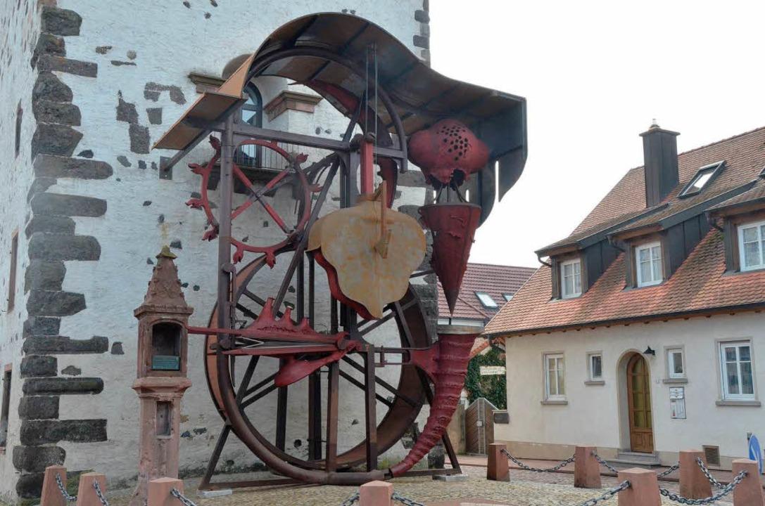 Die Radbühne von Helmut Lutz wird am 1...usstellung mit dem Werk des Künstlers.  | Foto: Claudia Müller