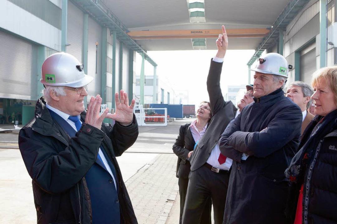 Martin Herrenknecht (links) mit Bundesverkehrsminister  Peter Ramsauer  | Foto: Herrenknecht