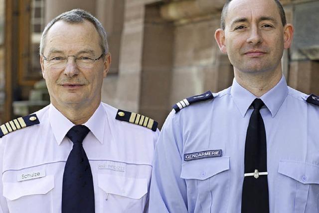 Zusammenarbeit der deutschen und französischen Wasserschutzpolizei