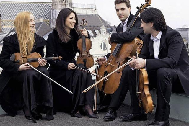 Debussy, Schubert und Beethoven vom Minetti-Quartett