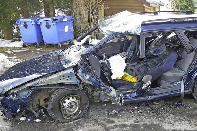 80-Jährige bei Unfall schwerverletzt