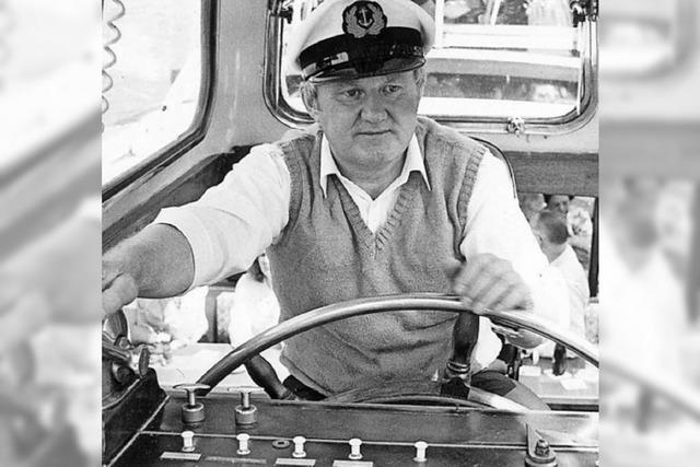 Trauer um den Pionier der Hochrhein-Schifffahrt