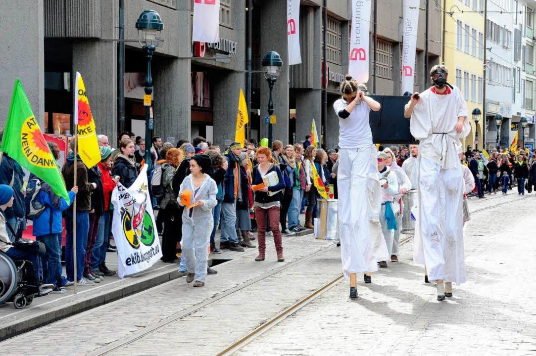 Protestzug gegen Atomkraft  | Foto: Thomas Kunz