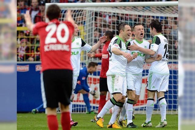 Der SC Freiburg unterliegt Wolfsburg mit 2:5