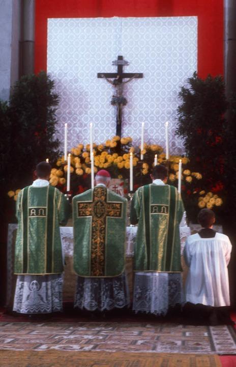 Erzbischof Marcel Lefebvre (1905-1991,...dete die umstrittene Piusbrüderschaft.  | Foto: KNA