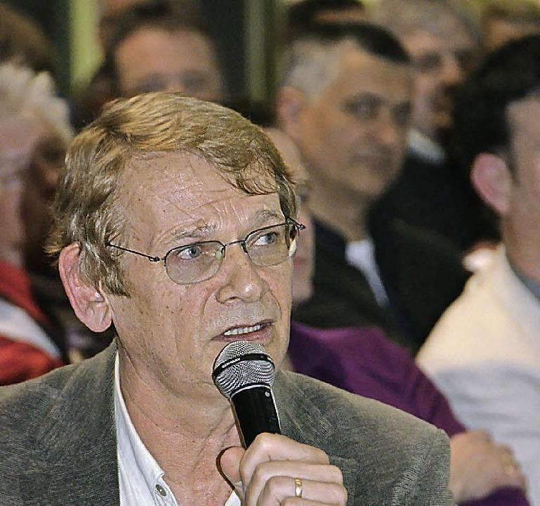 Gerhard Kaiser in Auggen.   | Foto: Umi