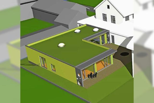 Für ein Flachdach mit filigranen Vordächern