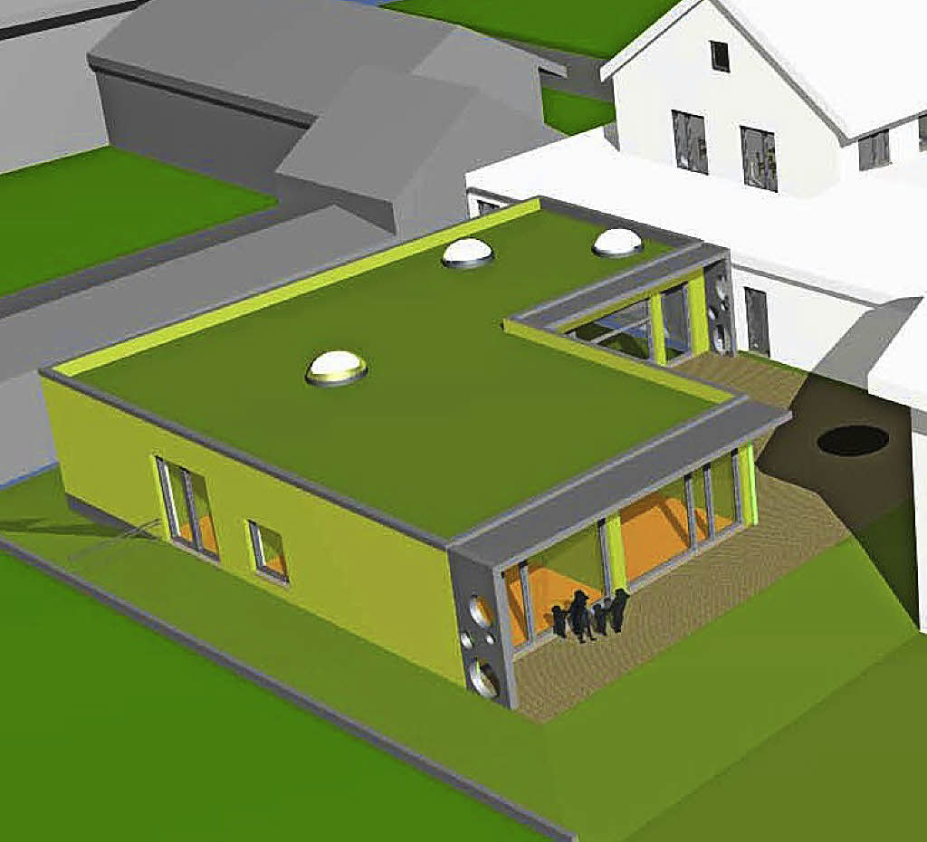 f r ein flachdach mit filigranen vord chern march badische zeitung. Black Bedroom Furniture Sets. Home Design Ideas