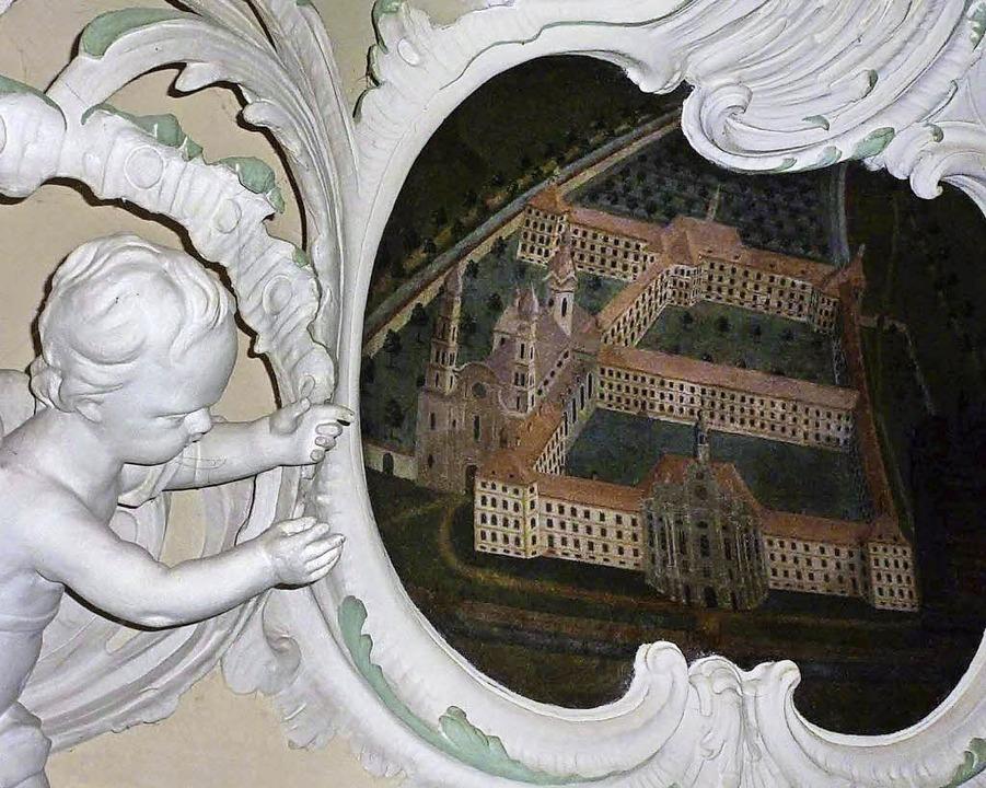 Die Engelssupraporte im Schloss Bürgel...sien vor dem Brand von 1768 zu sehen.   | Foto: Bernd Michaelis