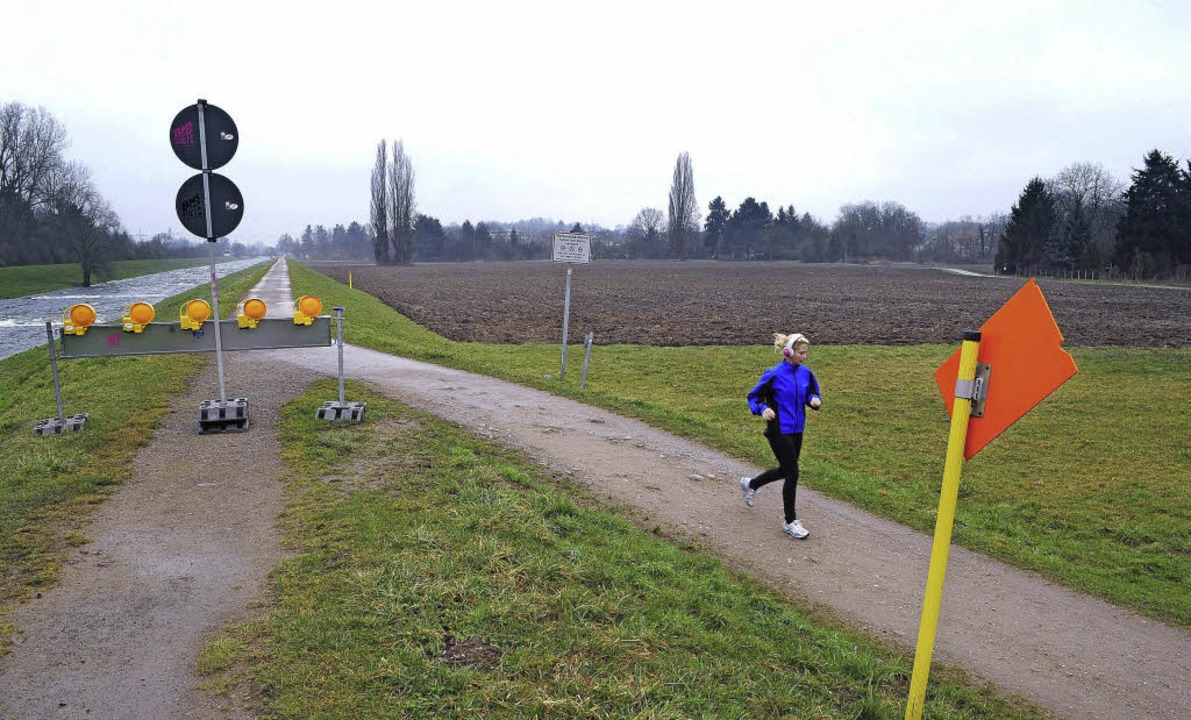 "In naher Zukunft sollen ""Im Zinklern"" Bewohner joggen.  | Foto: Thomas Kunz"
