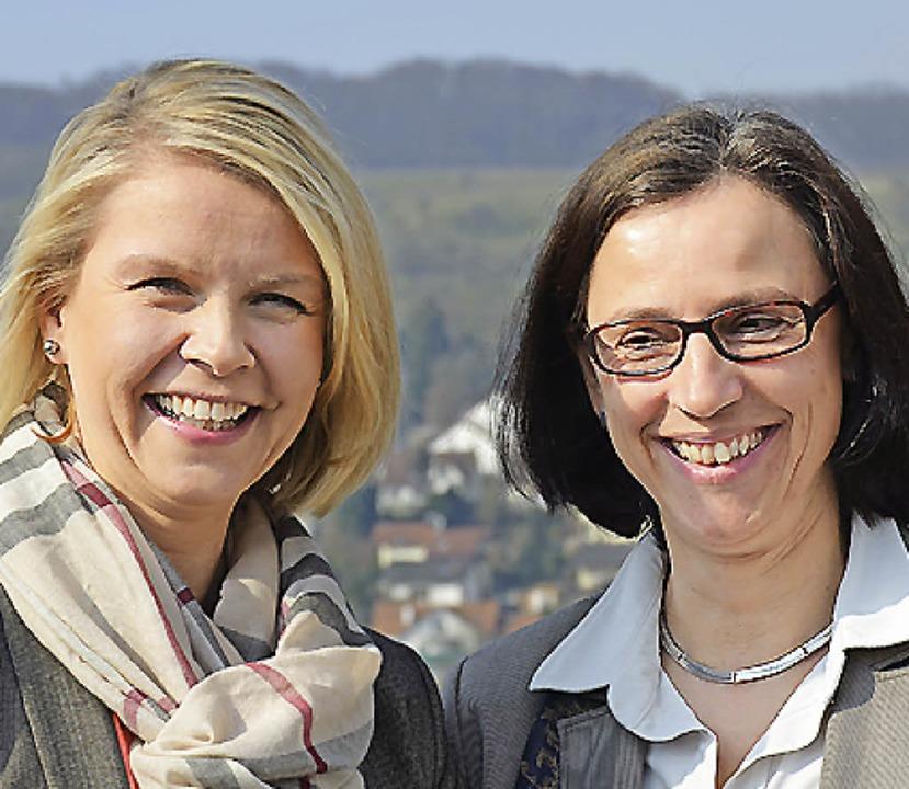 Gesunde Zeiten-Veranstalterinnen Sabine Beck (links) und Susanne Daniel.     Foto: Nikolaus Trenz