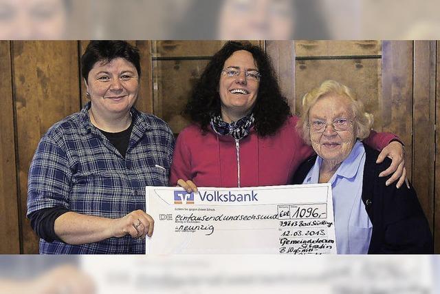 Kinderheim Doll erhält Spende von 1096 Euro