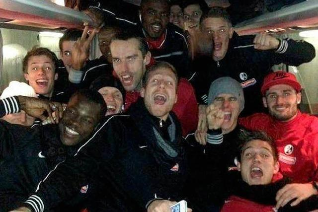 Die Spieler des SC Freiburg sind mit den Fans vernetzt und virtuell auf Ballhöhe