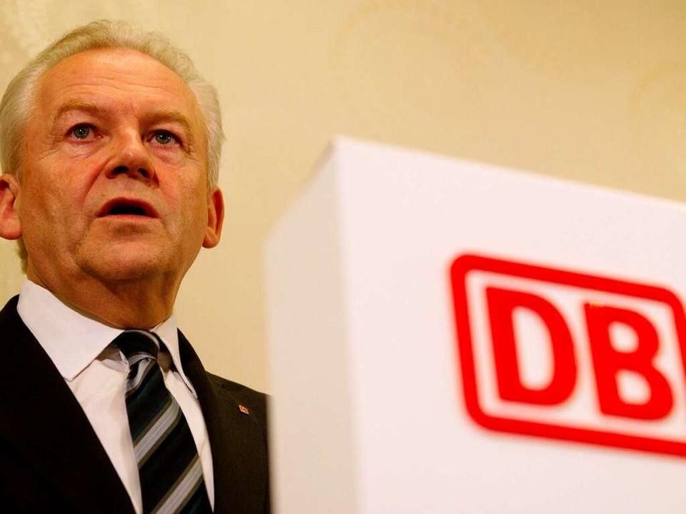 Der Vorstandsvorsitzende der Deutschen Bahn AG, Rüdiger Grube  | Foto: dpa