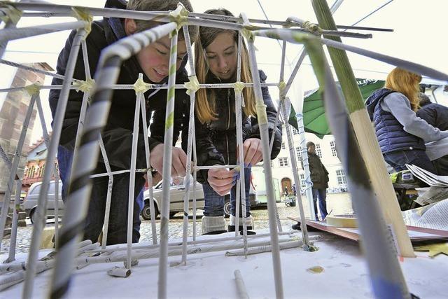 Schüler bauen das Münster nach