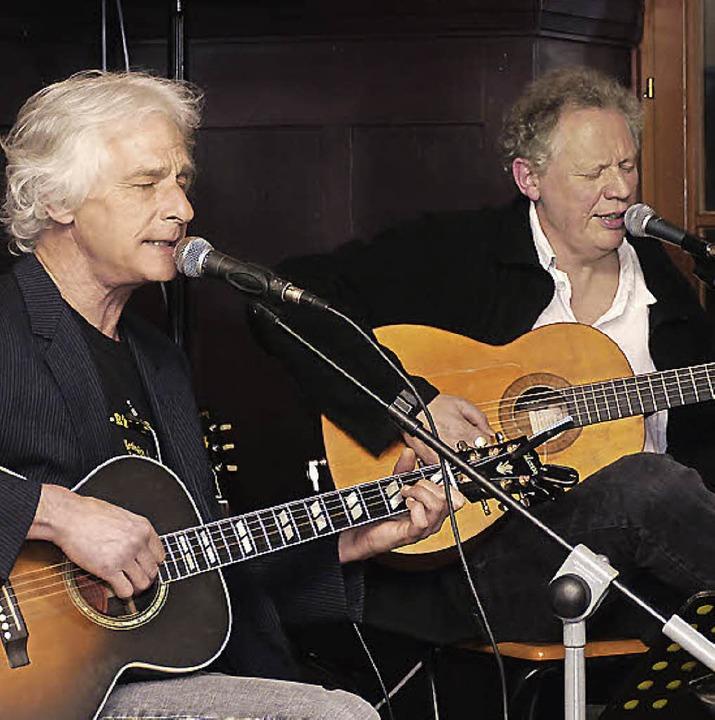 Mark Wise (links) und Hary de Ville in Schopfheim   | Foto: David-Wenk