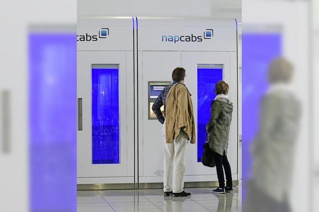 Flughäfen bieten immer mehr Schlafkabinen