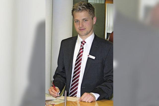 Ausbildungsberuf Bankkaufmann: Bei Kevin Faller ist Diskretion äußerst wichtig
