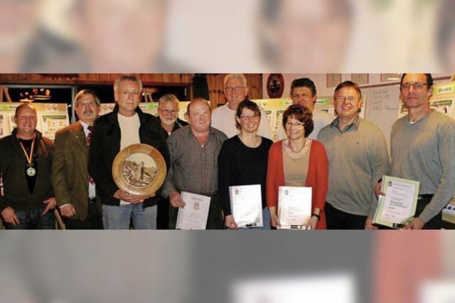 Auszeichnungen beim Schützenverein