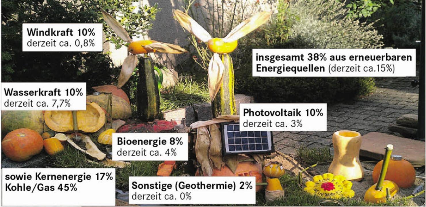 Ziele der Landesregierung für den Ausb...euerbaren Energien bis zum Jahr 2020.   | Foto: Michael Frey