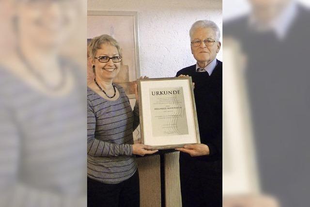 Orchesterverein ehrt Kassierer Bannwarth
