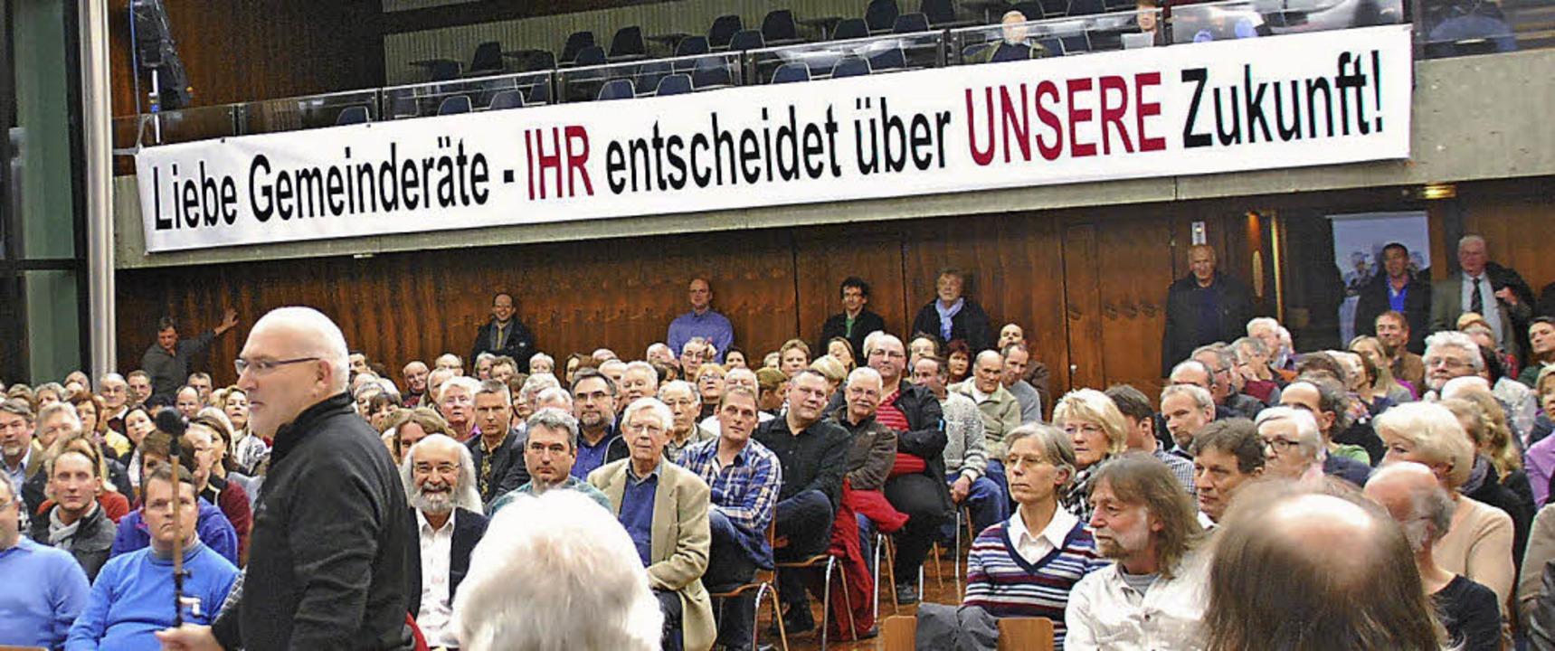 Bild von der Bürgerversammlung vom 4. März   | Foto: Ralf Staub