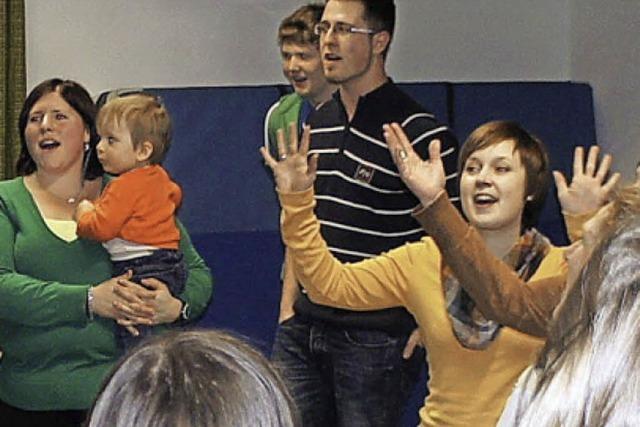 In Binzgen macht Singen vom Babyalter an Spaß