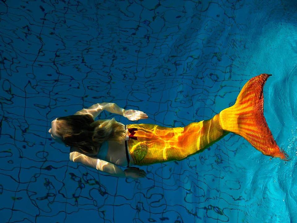 Wie Arielle: 500 Meerjungfrauen sollen im Westbad baden.     | Foto: T. Kunz