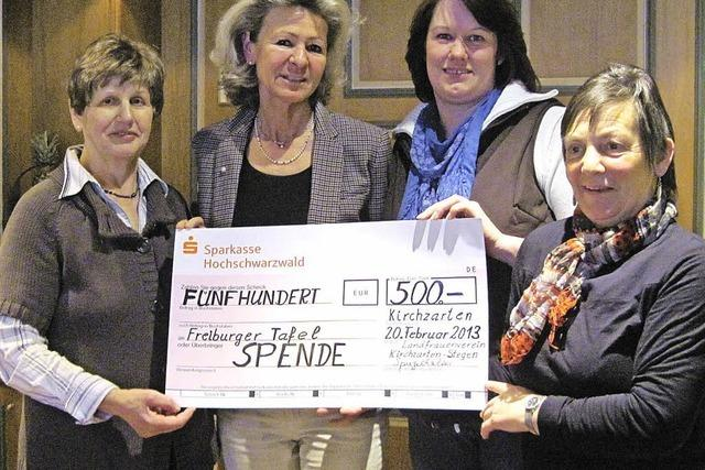 Landfrauenverein spendet für die Freiburger Tafel
